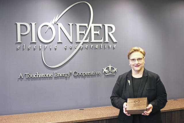 Nanci McMaken of Pioneer Electric Cooperative received the LaBerge Award for strategic communication.