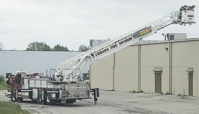 The Urbana Fire Division responded to a fire alarm at the Tractor Supply Company in Urbana on Monday.