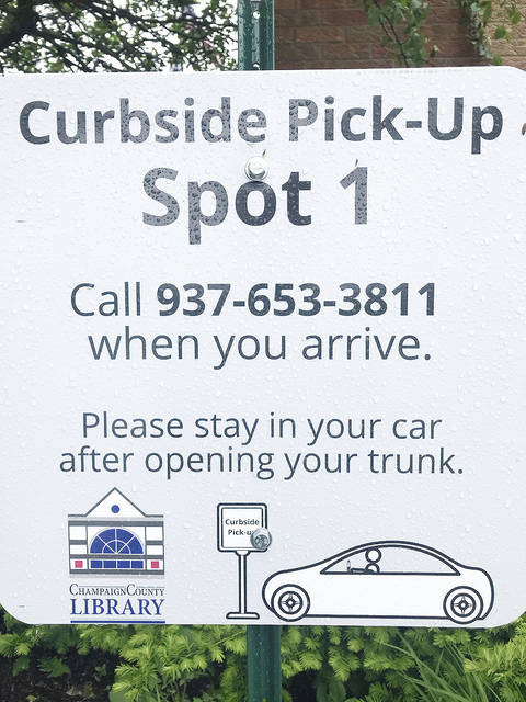 The Champaign County Library is now offering curbside service.
