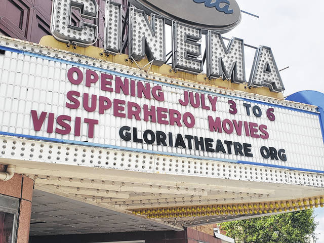 The Gloria Theatre is reopening on Friday.