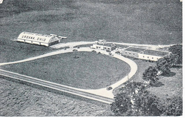 THEN - This photo of Grimes Field was taken about 1944.