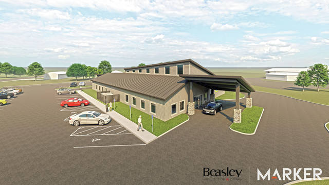 Beasley Architecture provided this rendering of the new senior center.