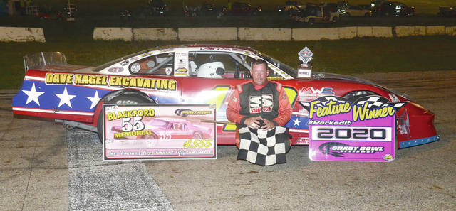 Jim Lewis Jr. (pictured) took the top spot in the Blackford Memorial on Saturday at Shady Bowl.