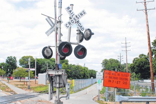 The railroad tracks on North Main Street in Urbana near Boyce Street will be closed from July 27-31. The suggested local detour is (from north to south) Dellinger Road to East Lawn Avenue to East U.S. Route 36. Those traveling north can use this detour in reverse.