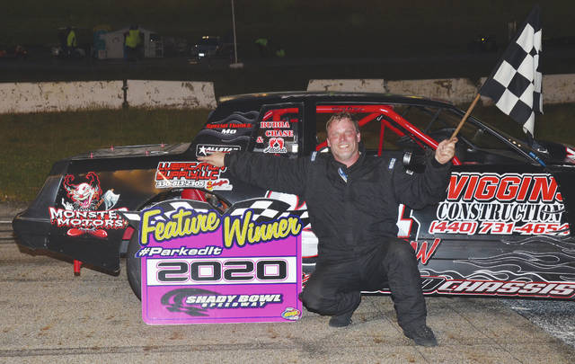 Jeremie Wiggins (pictured) won the Heath and Son Farms street stock feature at Shady Bowl last week.