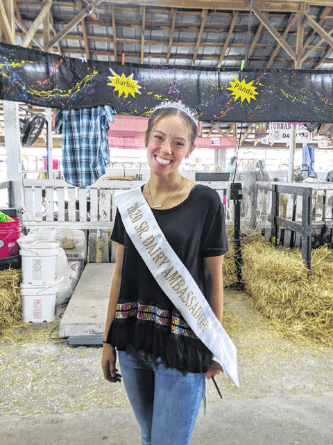 Ally Cupps, Champaign County Dairy Ambassador