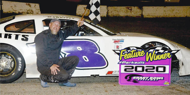 Don Mahaffey Jr. (pictured) won his first Noble Armor Coating late model feature at Shady Bowl Speedway Saturday night.