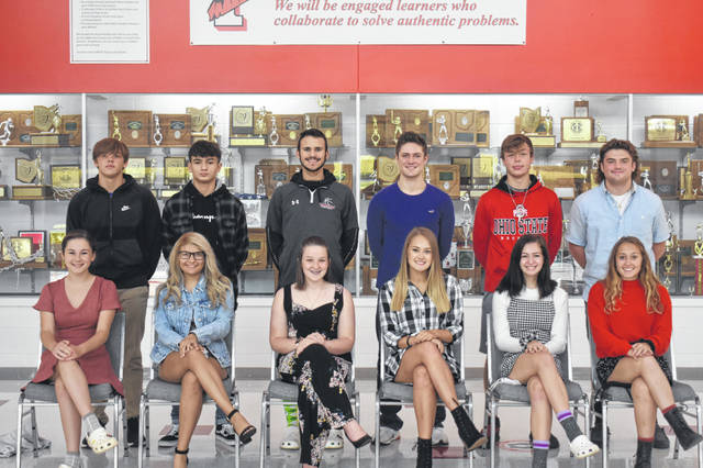 Members of the Triad High School Homecoming court have been announced. Crowning ceremonies are at 6:25 p.m. on Friday. Pictured (left to right) are (front row) Cecilia Miller, Calie McDaniel, Morgan Swiatek, Madelon Campbell, Emma Dorn, Holly Alvoid and (back row) Cameron Thomas, Nathan Carranza, Ayden Spriggs, Ryland Smiles, Drew Campbell, JC Alexander.