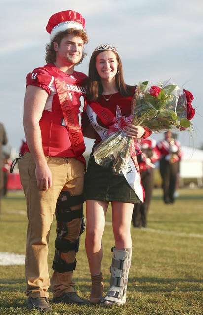 JC Alexander was named the homecoming king and Emma Dorn the queen Friday night at Triad.