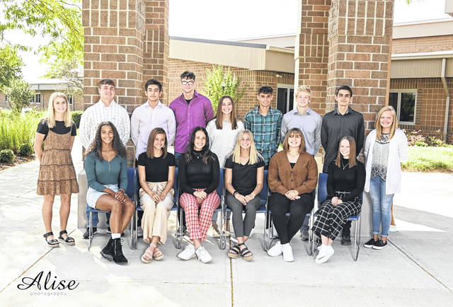 West Liberty-Salem homecoming festivities are this week. The game is Friday night and the crowning ceremony is Saturday. Pictured from left are (back row, left to right) Olivia Wilcox, Nick Burden, Hayden Phillips, Garrett Richardson, Emily Hollar, Drew Hardwick, Isaiah McGill, Luke Hudson, Trinity Floyd and (front row, left to right) Selena Weaver, Madison Bahan, Sophia Cole, Grace Estes, Anna McGill, Kaylee LeVan.