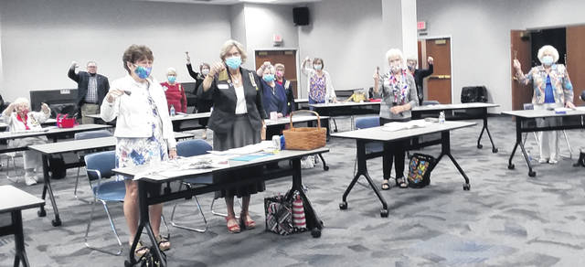 This year due to Covid-19, the Urbana DAR Chapter was forced inside for its Constitution Week celebration, but it didn't stop members from ringing those bells.