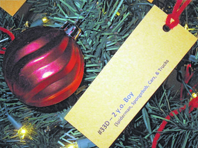 Urbana Fraternal Order of Police Lodge 93 invites the community to take a tag and participate in the Giving Christmas Tree.