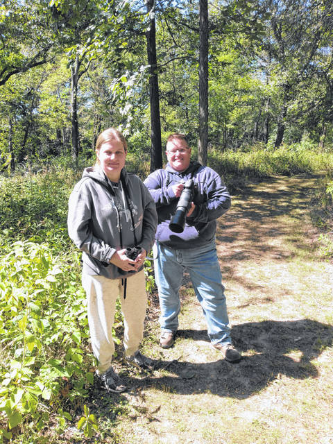 Experienced hikers, birding enthusiasts and photographers Kristi Krumlauf of Springfield and Jen Allen of Lancaster got off-the-grid and back-to-nature on this beautiful day.
