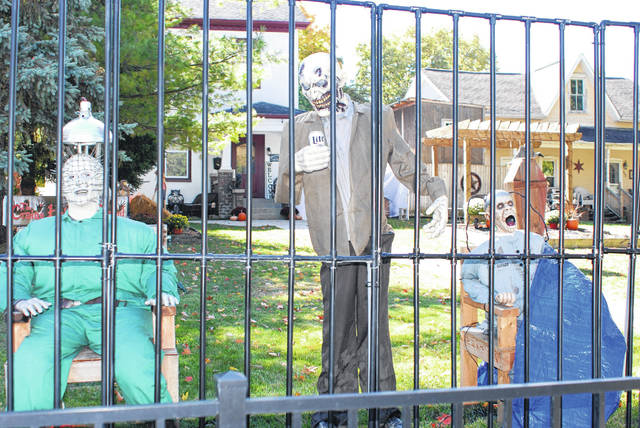 These monsters are hanging out in the front yard of 319 E. Water St. in Urbana. Beggars Night is Saturday, October 31, in Champaign County municipalities and in West Liberty. The time in Champaign County including Urbana and most villages is 6-8 p.m. Beggars will be knocking on West Liberty doors from 3-5 p.m. and in Mechanicsburg from 4 to 6 p.m.