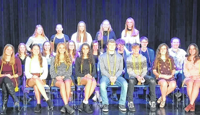 New members of the WL-S Honor Society are, back row, Audrey McGill, Gabrielle Williams, Naomi McGill, Alison Gault, Aubrey Williams, middle row, Macie Campbell, Emily Hollar, Jocelynn Kennaw, Madison Bahan, Madison Casto, Brandon LaRoche, Bella Kauffman, front row, Jamie Gluckle, Amanda Domachowski, Megan Adams, Mandilyn Weaver, Brady Forsythe, Dylan Lauck, Hallie Smith, Micah Stoner, not pictured, Owen Johnson, Isaac Reames and Logan Saylor.