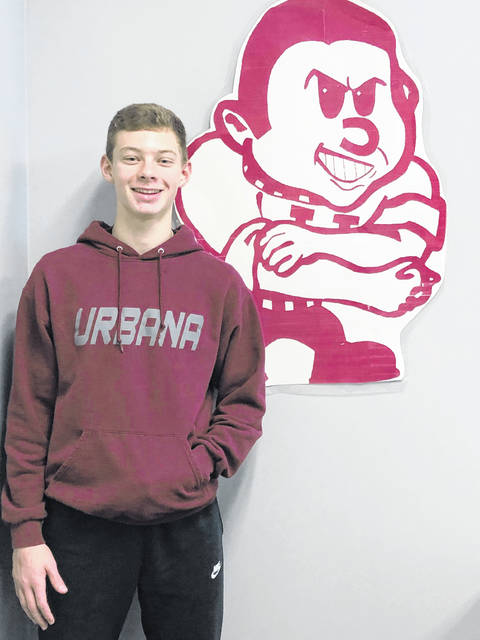 Freshman Will Donahoe is a Student of the Month at Urbana High School.