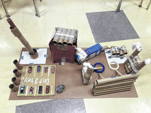 Mrs. Lacey's classroom was a winner with this chocolate factory, complete with a working conveyor belt.