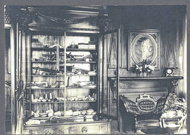 """This is a 1916 photo of the """"cabinet of curiosities."""""""