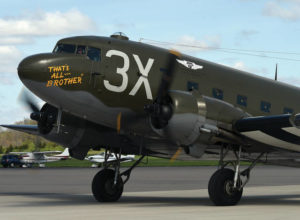 Historic D-Day aircraft visits area