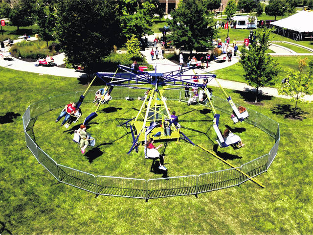 The Ballistic Swing is one of the fun rides people can enjoy at Family Fun Day in July.