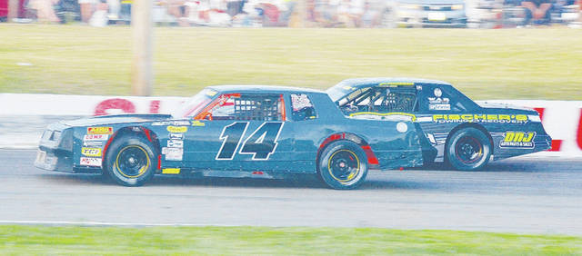 The CRA Street Stocks (pictured) will compete in a 150-lap feature today at Shady Bowl Speedway.