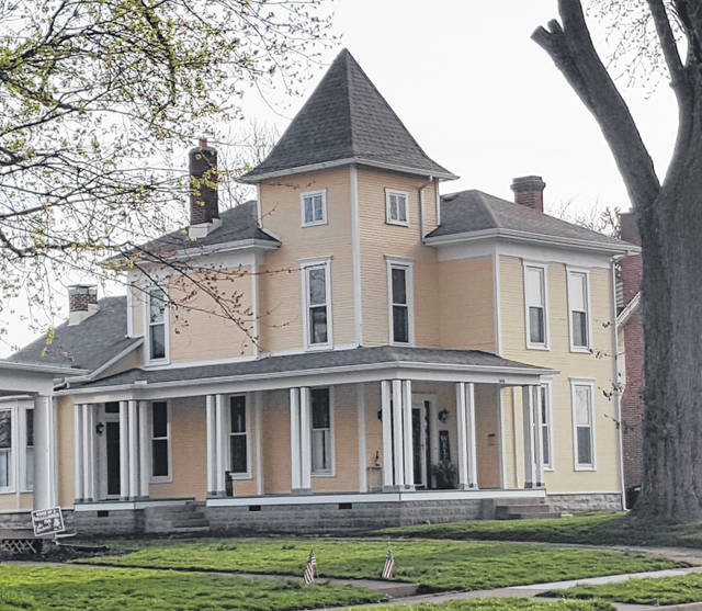 A 2020 CCPA facade matching grant helped fund the restoration of the porch on this house on Scioto Street in Urbana.