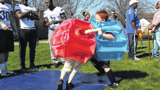 This photo was taken at YMCA Healthy Kids Day at Urbana University during the event in past years. This year, the Y is partnering with the city of Urbana to hold the annual event at Melvin Miller Park on Saturday, June 5.