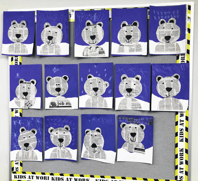 This polar bear creation was entered by Miss Heim's classroom.