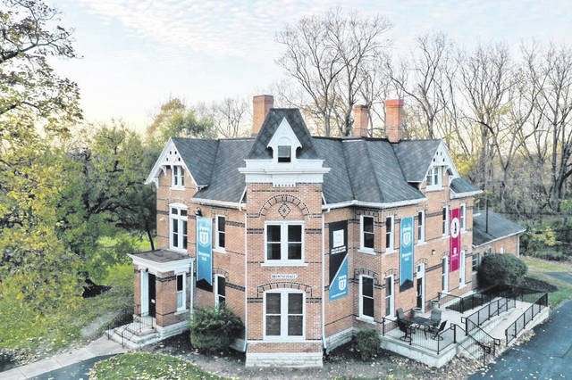 Browne Hall, pictured in this drone photograph from 2020, will host the Johnny Appleseed Museum.