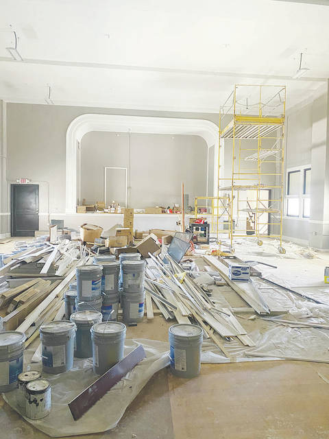Urbana South Elementary School's former gym and stage will serve as Legacy Place South's community room.