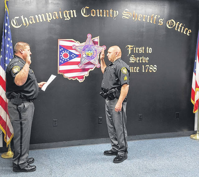 On June 4, 2021 the Champaign County Sheriff's Office held a ceremony for the purpose of promoting Deputy Peter A. Milano to the rank of Sergeant. Sergeant Milano has been a member of the Champaign County Sheriff's Office since June 2, 2012. During his tenure at the Sheriff's Office, Sergeant Milano has served with the Sheriff's Court Services Division. Sergeant Milano will begin his new assignment on Monday, June 7, 2021.