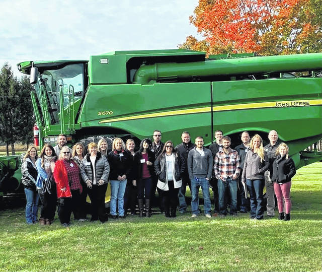 The 2019-2020 Leadership Champaign County class is pictured visiting Koenig Equipment on Agriculture day in October 2019.