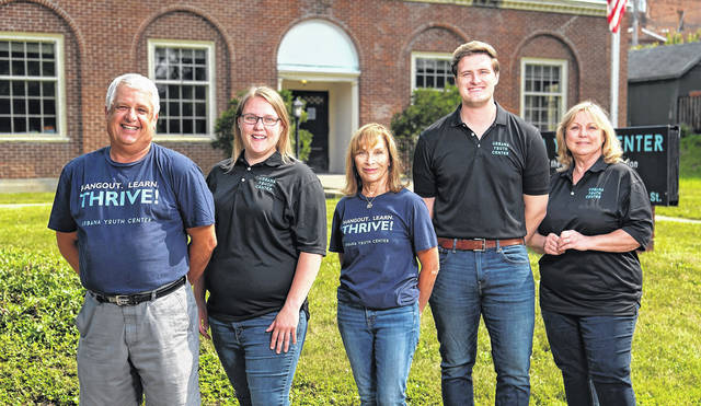 Pictured from left are Lance Jackson, Natalie Frueh, Teresa Hill, Justin Weller and Judy Richardson.