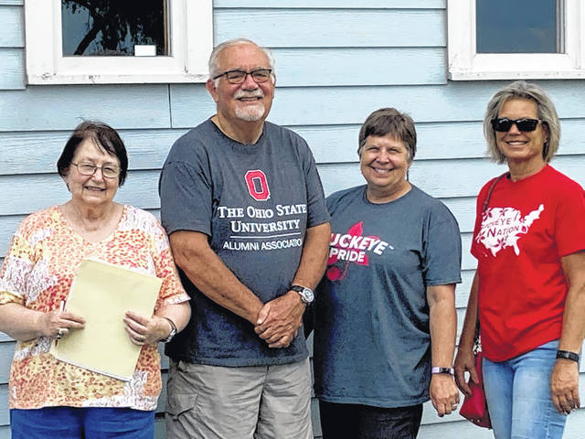 Shown are committee members Julie Balmer, Curt Smith, Chris Harmison and Beth Harrigan. The Ohio State Alumni Club of Champaign County members are planning the upcoming Summer Send-Off scheduled for Sunday, July 25 at 6 p.m. at the event site Pretty Prairie Farm, 4440 Prairie Road, Urbana.