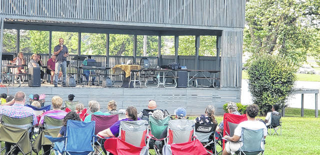 """""""Outdoor Summer Praise Singalong"""" series began on Saturday, June 5. The series is taking place at Melvin Miller Park on Saturdays from 6:30-7:30 p.m. at a performance venue by the pond."""