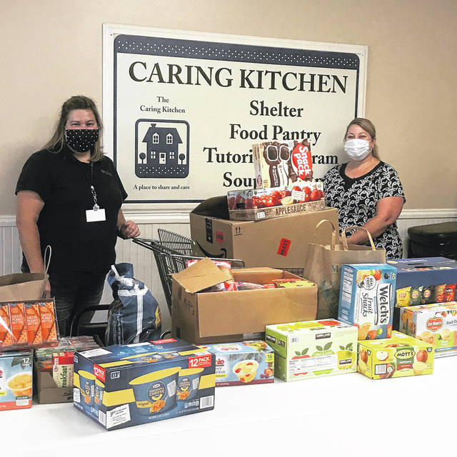 Emily Huffman, CT COMM Customer Service and Sales Manager, is pictured left and Interim Executive Director of the Caring Kitchen, Tara Jordan, is pictured right.