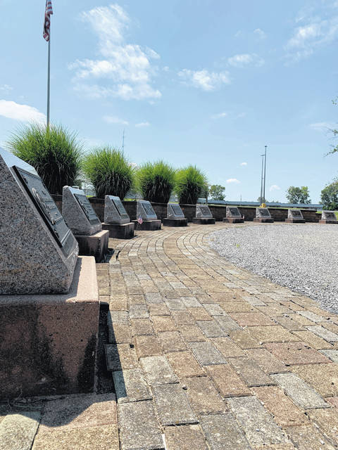 Ten monuments represent the 10 wars in which Americans have served.