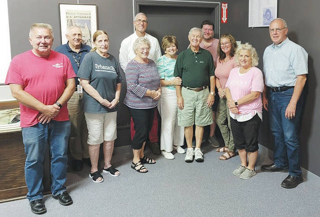 Pictured from left are (first row): Elton Cultice, Hayla Parker, Sarah Finch, Sandy Gonzalez, Vince Gonzalez, Lynette Moody, Vicki Deere Bunnell and Kerry Brugger; (second row): Charles Emory, Dr. Charles Hickey, John Bry (chairman). Absent from photo: Bill Bean, Brenda Cook, Doug Crabill.
