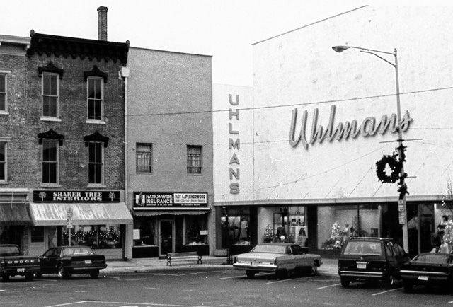 Uhlmans is pictured in 1988 at 35 – 38 Monument Square.