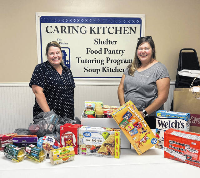 For the fifth year, CT COMM Customer Service & Sales Manager Emily Huffman delivered Backpack Program donations to The Caring Kitchen's Interim Director Tara Jordan. CT COMM holds the annual donation drive each year around back-to-school time. CT COMM customers and employees donate kid-friendly foods (individually packaged and easy for kids to open) to be used for the Urbana City Schools Backpack Program. The donations for all five years have grown, with every year being more than 125 pounds, with this year's delivery adding up to 175 pounds.