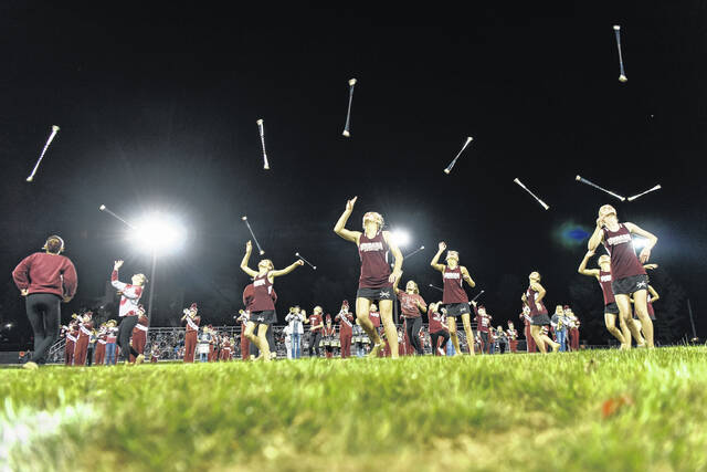 The Urbana High School marching band delighted the crowd on homecoming Friday night, punctuating a hard-fought victory over visiting cross-county rival Graham. See more homecoming coverage from Friday night at UHS and Triad inside today's edition.