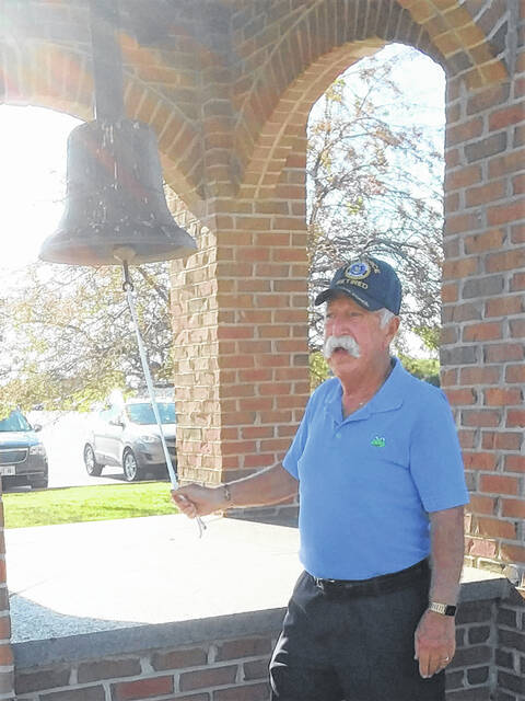 Veteran Fred Fullerton rang the bell for this year's DAR Constitution Day Celebration at Freedom Grove.