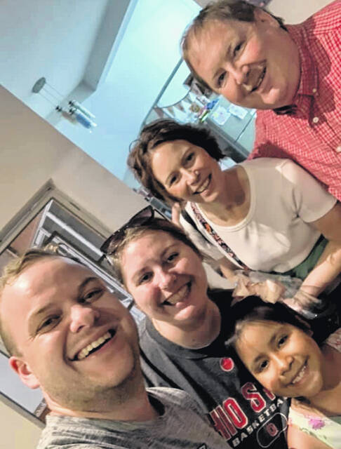Pictured is a current photo of Pastor Mark and Jami Hackworth with their daughter Maggie VanHoose and her husband Trent, who have been serving as missionaries in Peru for 9 years.