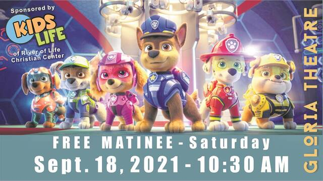 """""""Paw Patrol: The Movie"""" will be screened on Saturday."""