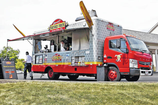 Schmidt's Food Truck will be serving authentic German food during Sunday's Oktoberfest.