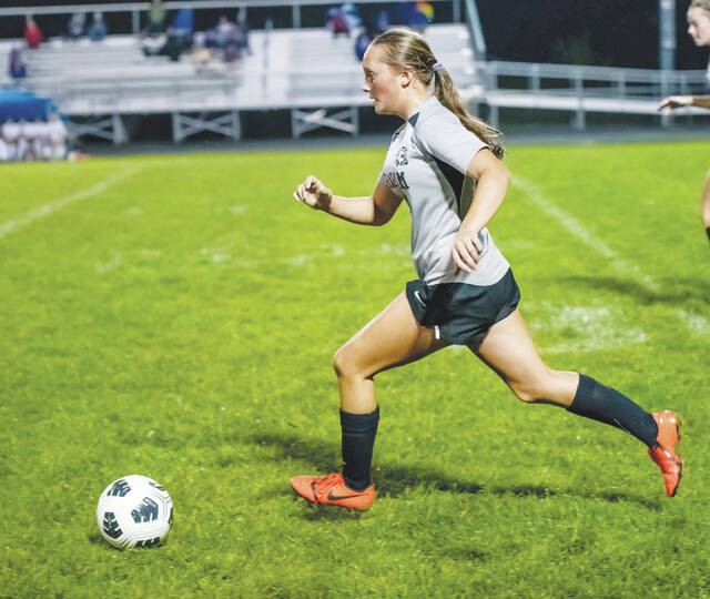 Graham's Rosey Dunham (pictured) had a goal and an assist in a 4-0 win at Kenton Ridge.