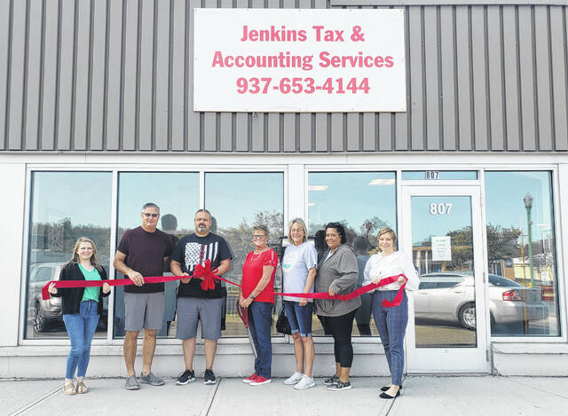 The Champaign County Chamber of Commerce held a ribbon-cutting ceremony for Jenkins Tax & Accounting Services on Friday, September 10. Jenkins Tax & Accounting Services has moved to 807 Scioto St., Urbana. Owner Wanda Jenkins says she is excited to serve her clients in the newly renovated location. Call 937-653-4144 for more information on the services provided. Pictured are Sara Neer, Bob Brooks, Josh Jenkins, Wanda Jenkins, Tami Connolly, Marci Lucas and Tonia Feinstein.