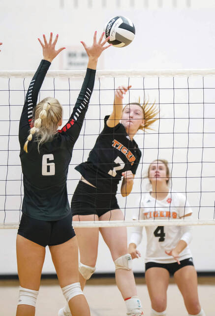 WL-S's Michele Smith registers a kill on Saturday at Minster.