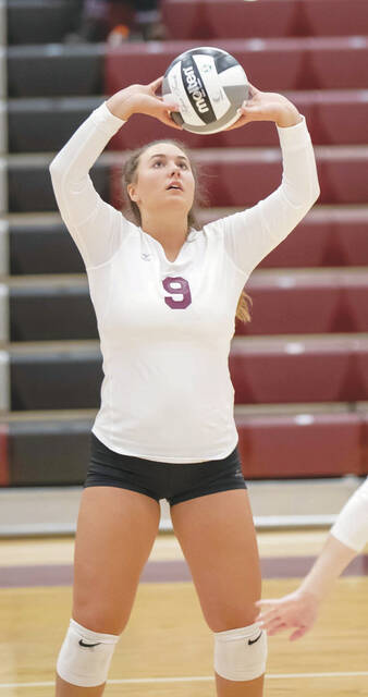 Urbana's Ella Taylor (pictured) had 36 assists and 12 digs in a loss to London on Tuesday.