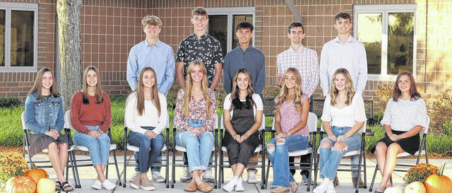 Front row left to right: Teagan Boyd, Megan Hollar, Emily Hollar, Aubrey Williams, Grace Winters, Megan Adams, Allyson Gaver, and Brittany Neer. Back row left to right: Owen Johnson, Logan Saylor, Isaac Reames, Holden Shafer, and Clayton Fissel. WL-S will host a pregame ceremony beginning at 6:15 p.m. on Friday. Tiger Stadium gates will open at 5:30 p.m. The evening begins with the homecoming court in the parade of Jeeps followed by crowning the 2021 Homecoming King and Queen. Kickoff against West Jefferson is at 7 p.m. The homecoming dance is set for Saturday from 8-11 p.m.
